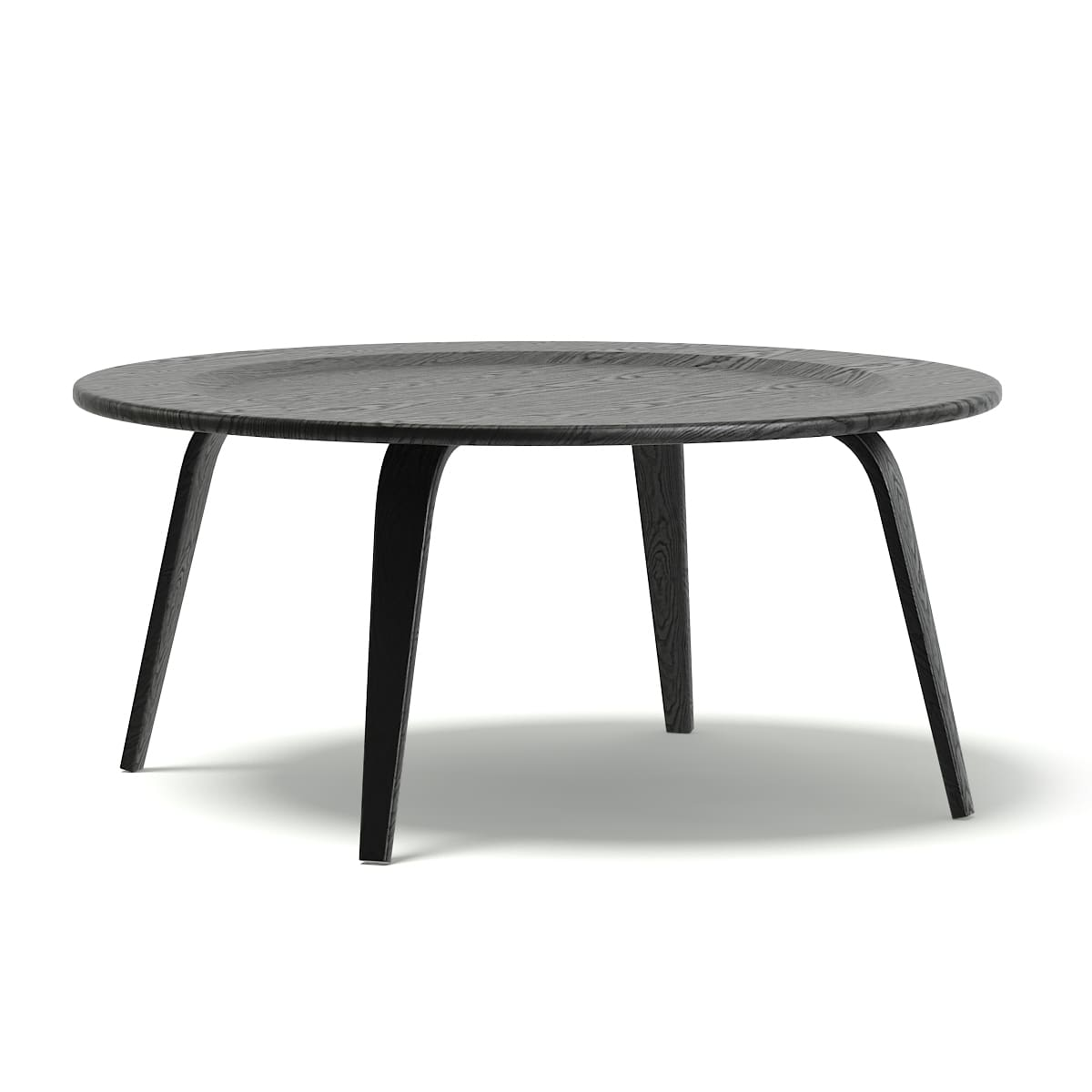 round black coffee table 3d model