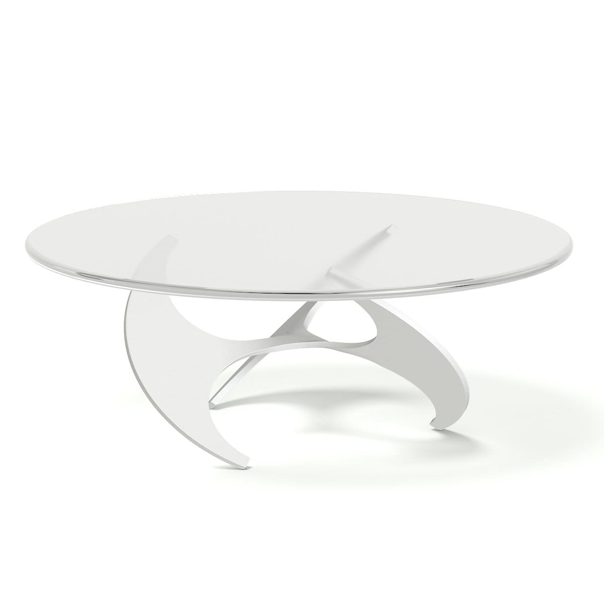 modern glass and metal coffee table 3d model
