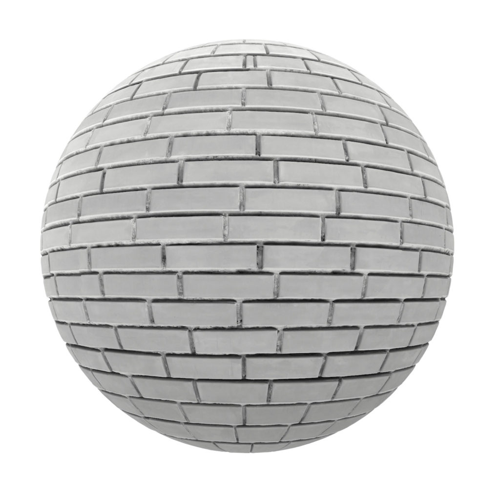 White Brick Wall Pbr Texture Cgaxis 3d Models Store