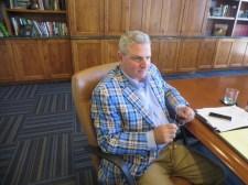 CGCOA President Ron Zraick (Cinnabar Hills Golf Club) at the CGCOA Board meeting at Poppy Hills Golf Course on July 28.