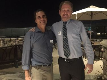 Johnny Hakim (Greenskeeper.org) and Zeb Welborn (19th Hole Media) at our Tri-States Reception on September 17, 2018 in Carlsbad.