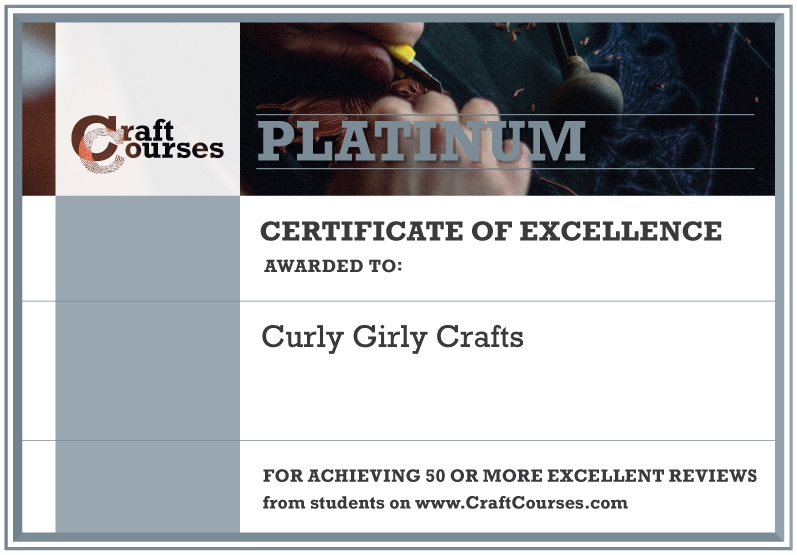 platinum award - personalised