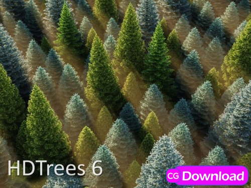 Download HD Trees Vol 6 for Cinema4D Free