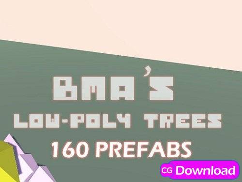 Download Low Poly Trees (160 prefabs) Free