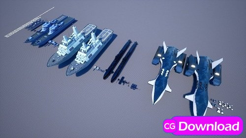 Download Military Ships Pack Free