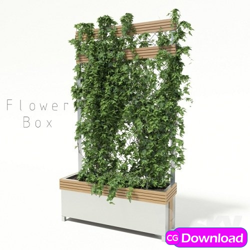 Download Flower box 3D Model Free