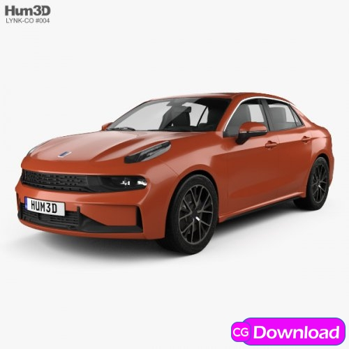 Download  Lynk & Co 03 sedan 2018 3D Model Free