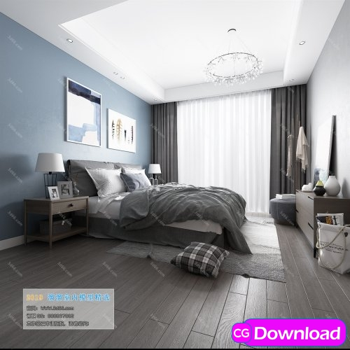 Download  Modern Style Bedroom 222 (2019) Free