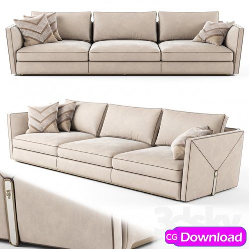 Download  Visionnaire Bastian 3 seater sofa_02 Free