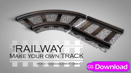 Download  LowPoly Railway VR / AR / 3D model Free