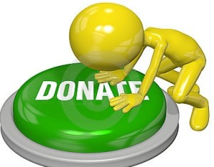 person-gives-website-donate-button-push-21525348