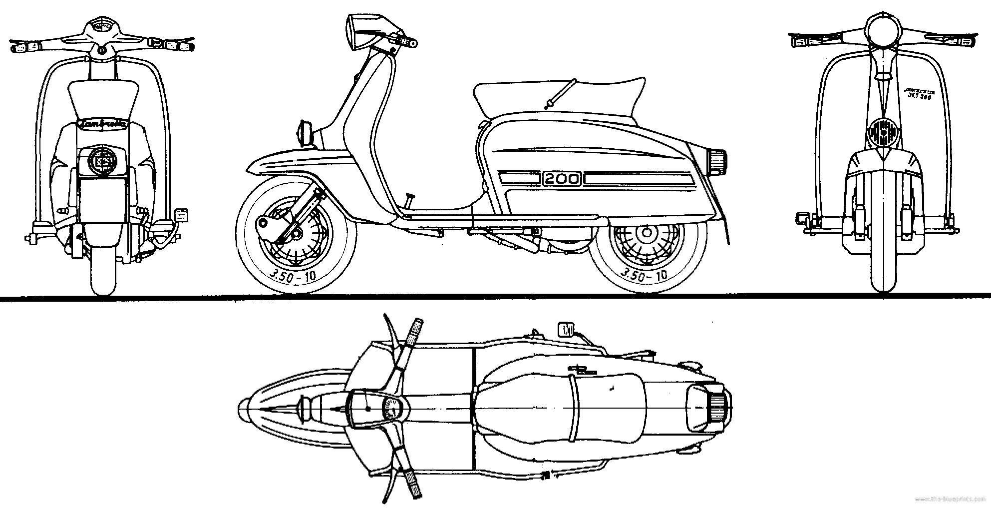 Motorcycle Bike Blueprints For 3d Modeling