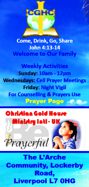 Christian Gold House Chapel Ministry Welcomes You! #christcentred #church