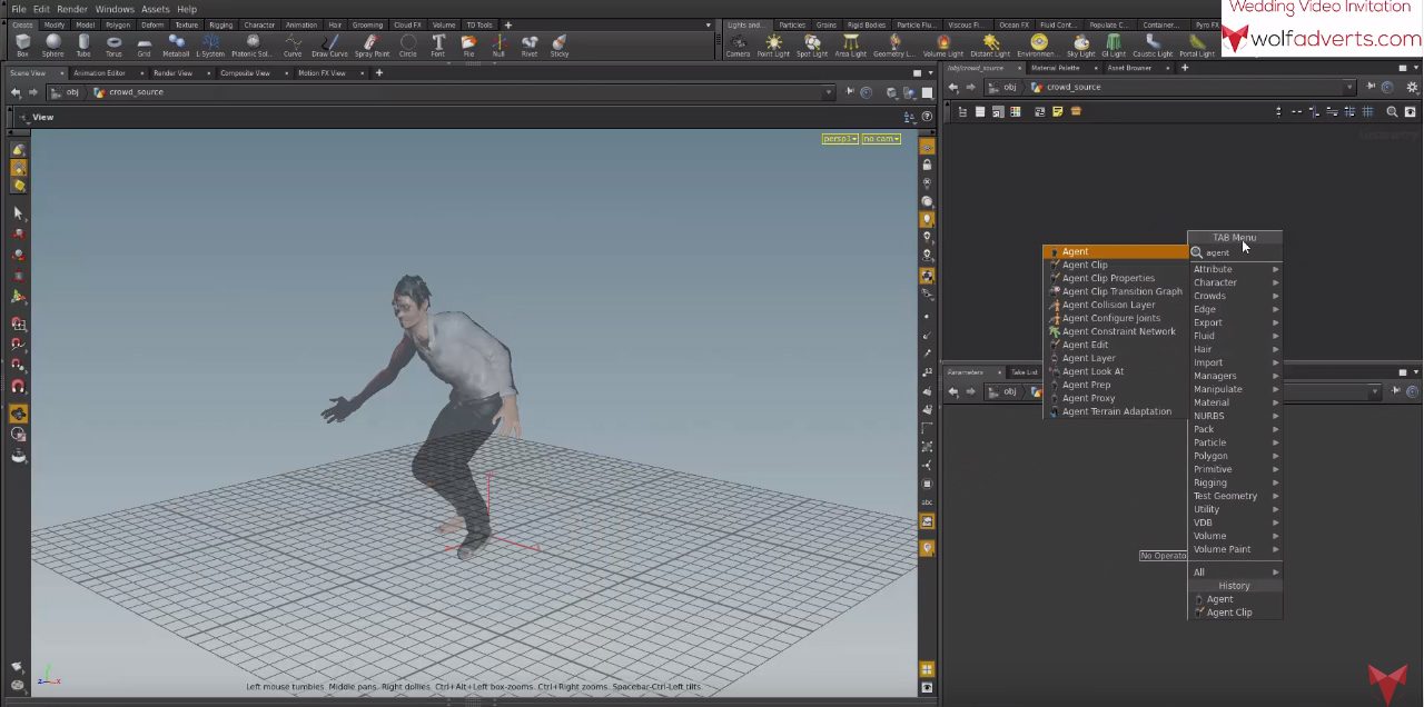 Houdini tutorial- Crowd simulation | CGHOW