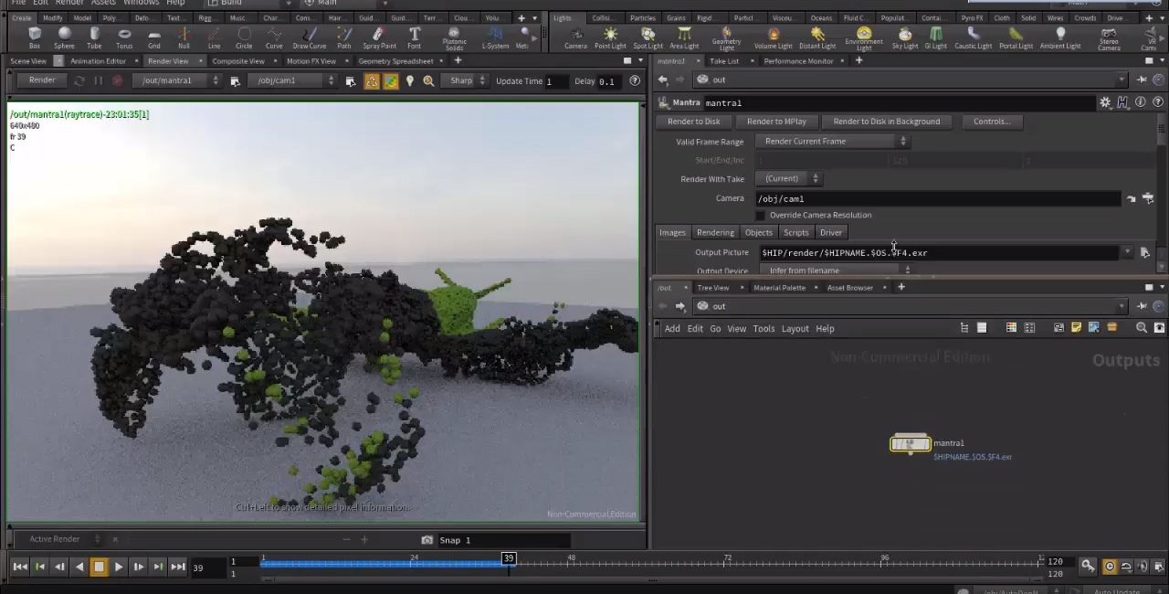 Disintegration effect in Houdini Tutorial | CGHOW