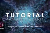 Particles Follow Surface - CINEMA 4D TUTORIAL