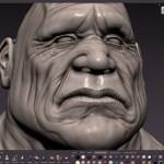 Bulldog Head Sculpting in Mudbox