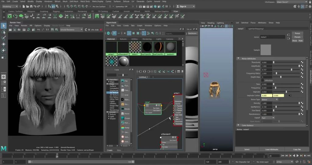 Interactive Grooming with Maya