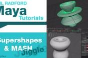 Maya Super shapes and MASH Jiggle