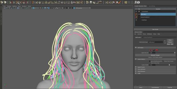 Ornatrix Maya: Hair Guides Sculpting Time-Lapse | CGHOW