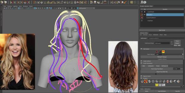 Ornatrix Maya: Hair Guides Sculpting Time-Lapse