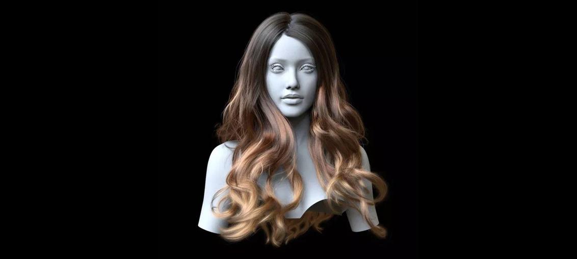 modeling curly hair in maya