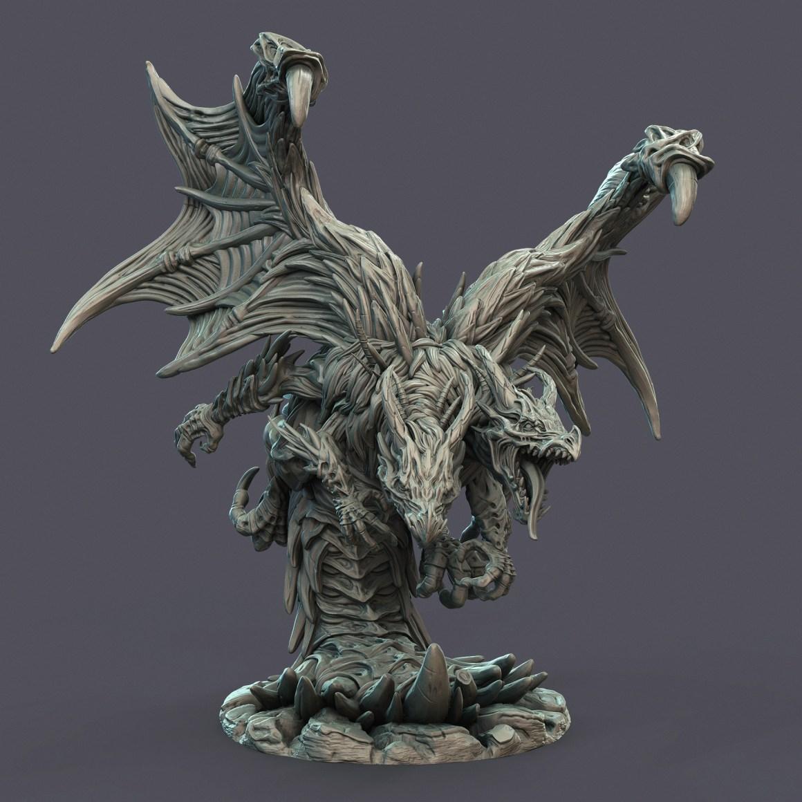 Twin Dragon - Wild Assent by Gustavo Zampieri