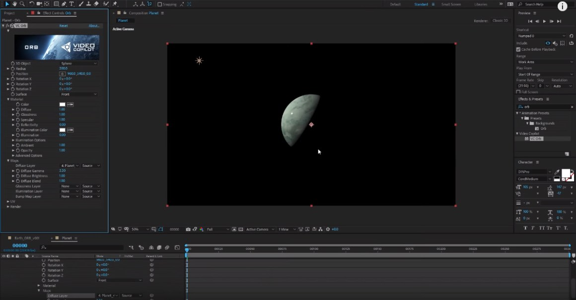 Ultra 3D Earth Tutorial! + Free ORB Plug-in! 100% After Effects!