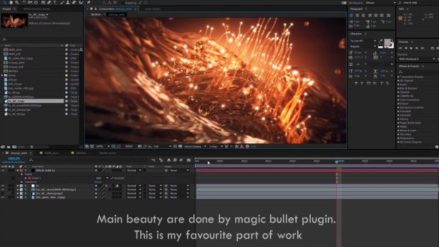 Water flowers blossoming in Houdini Tutorial by Mike Stoliarov
