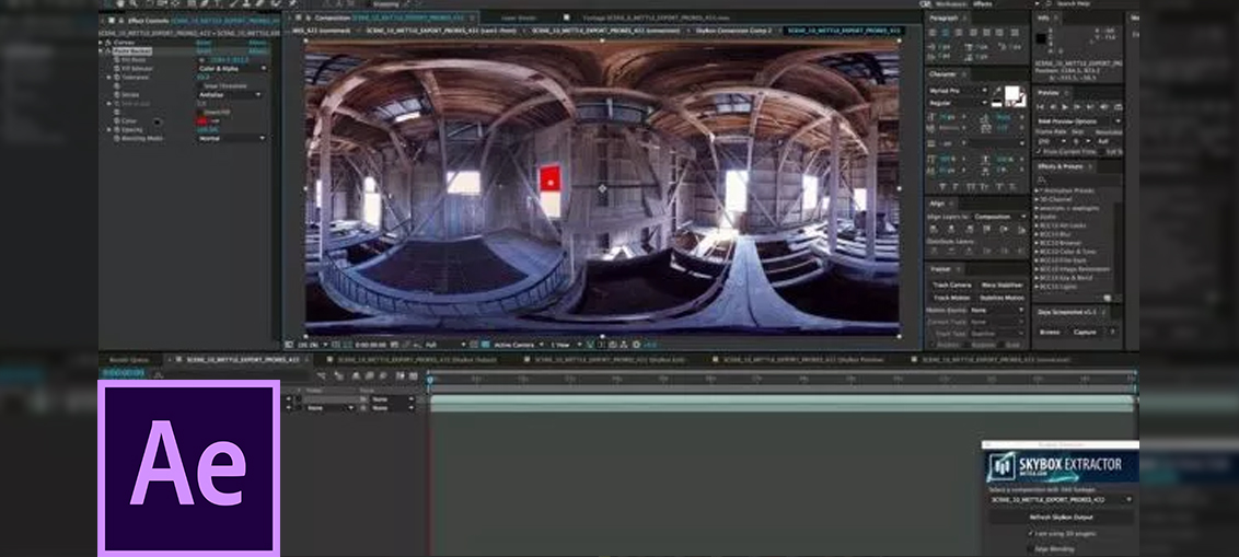 Working with 360 video in After Effects