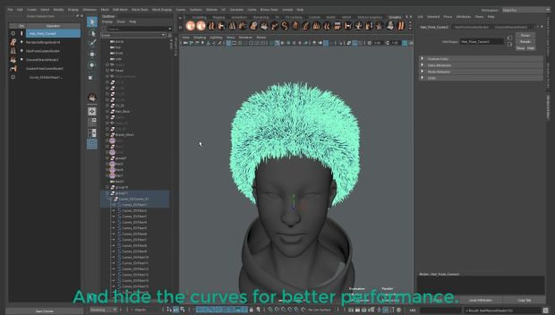 ZBrush Fibermesh to Maya Ornatrix Hair