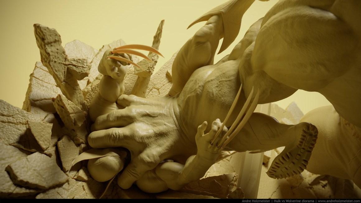 Hulk vs Wolverine by Andre Holzmeister
