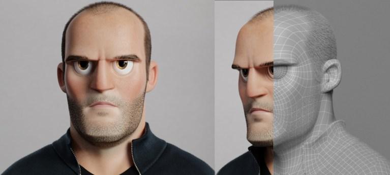 Jason Statham Cartoon by Florian Malchow