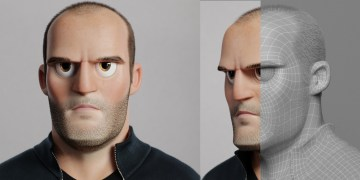 Jason Statham Cartoon by Florian Malchow
