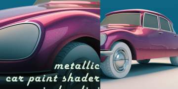 Metallic car paint in Houdini by Rohan Dalvi