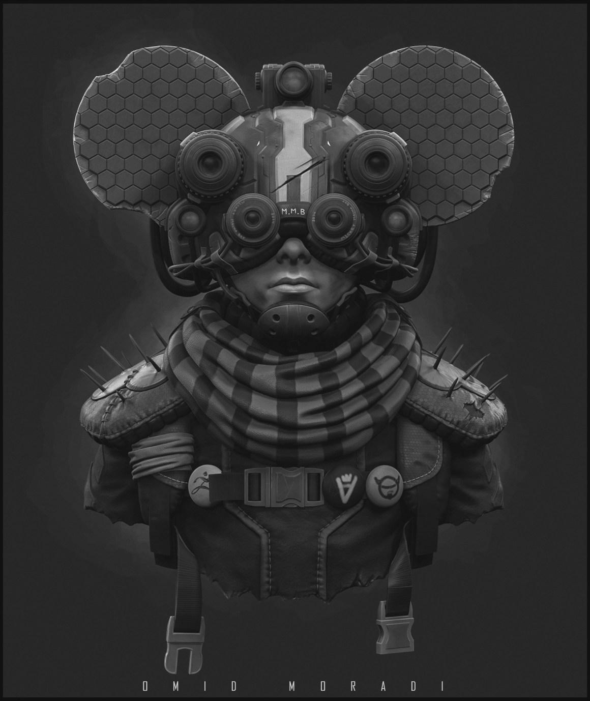 Mickey Mecha Boy by Omid Moradi