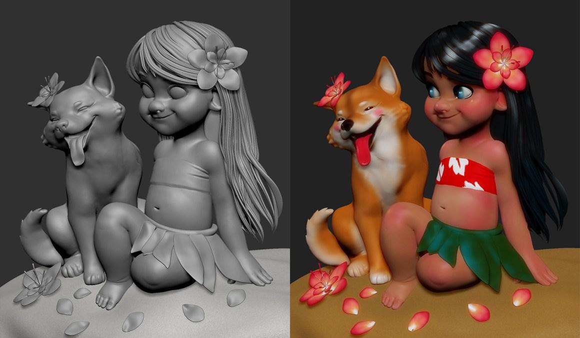 Milo and Lilo by Olya Anufrieva