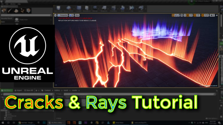 Unreal engine crack and rays tutorial