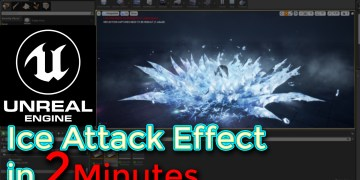Unreal Engine Ice Attack Effect In 2 Minutes