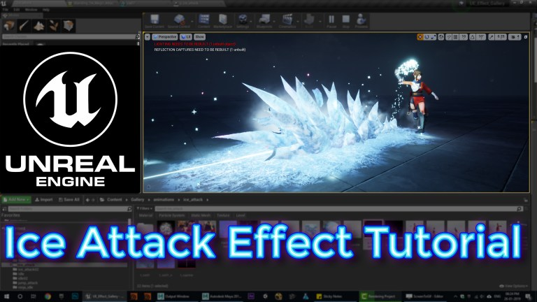Unreal Engine Ice Attack Effect Tutorial