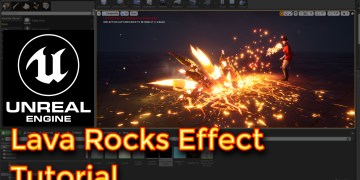 Unreal Engine Lava Rocks Effect Tutorial