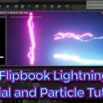 Unreal Engine Mesh Flipbook lightning Material and Particle Tutorial