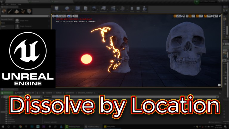 Unreal Engine Dissolve by Location Material Tutorial
