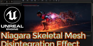 Unreal Engine Niagara Skeletal Mesh Disintegration Effect Tutorial