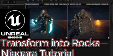 Unreal Engine Transform into Rocks Niagara Tutorial