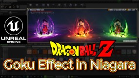 Unreal Engine DragonBall-Z Goku Effect in Niagara Tutorial