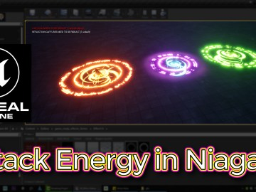 Unreal Engine Attack Energy Effect in Niagara Tutorial