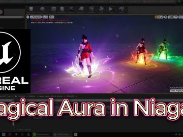 Unreal Engine Magical Aura Effect in Niagara Tutorial