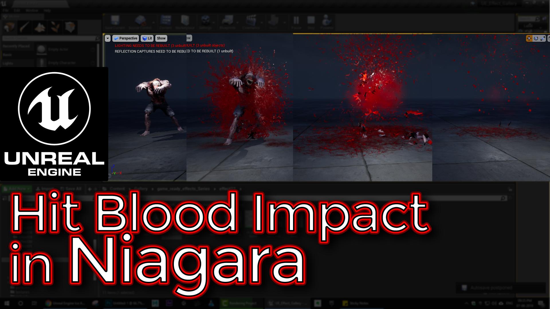 Hit Blood Impact | Unreal Engine Niagara Tutorial