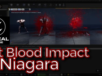 Hit Blood Impact | Unreal Engine Niagara Tutorial